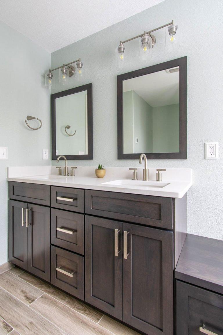Custom and semi-custom bathroom cabinetry
