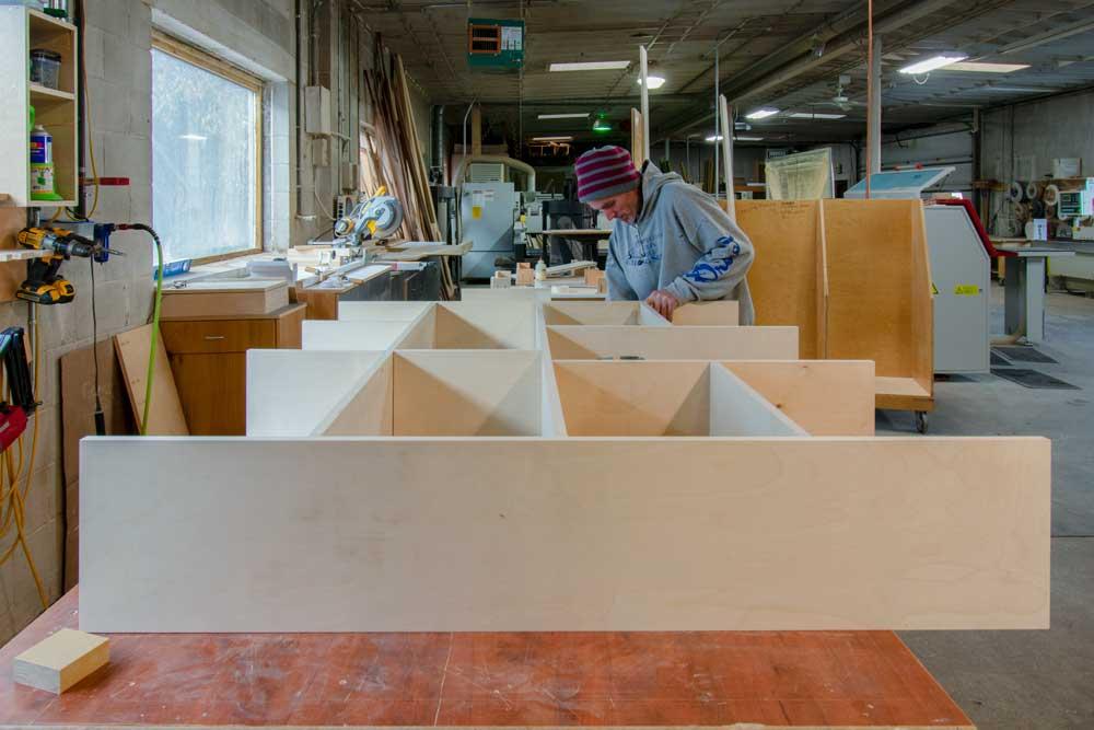 Building custom book shelves