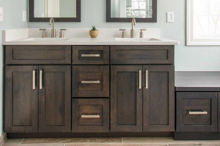 wood bathroom vanity cabinet
